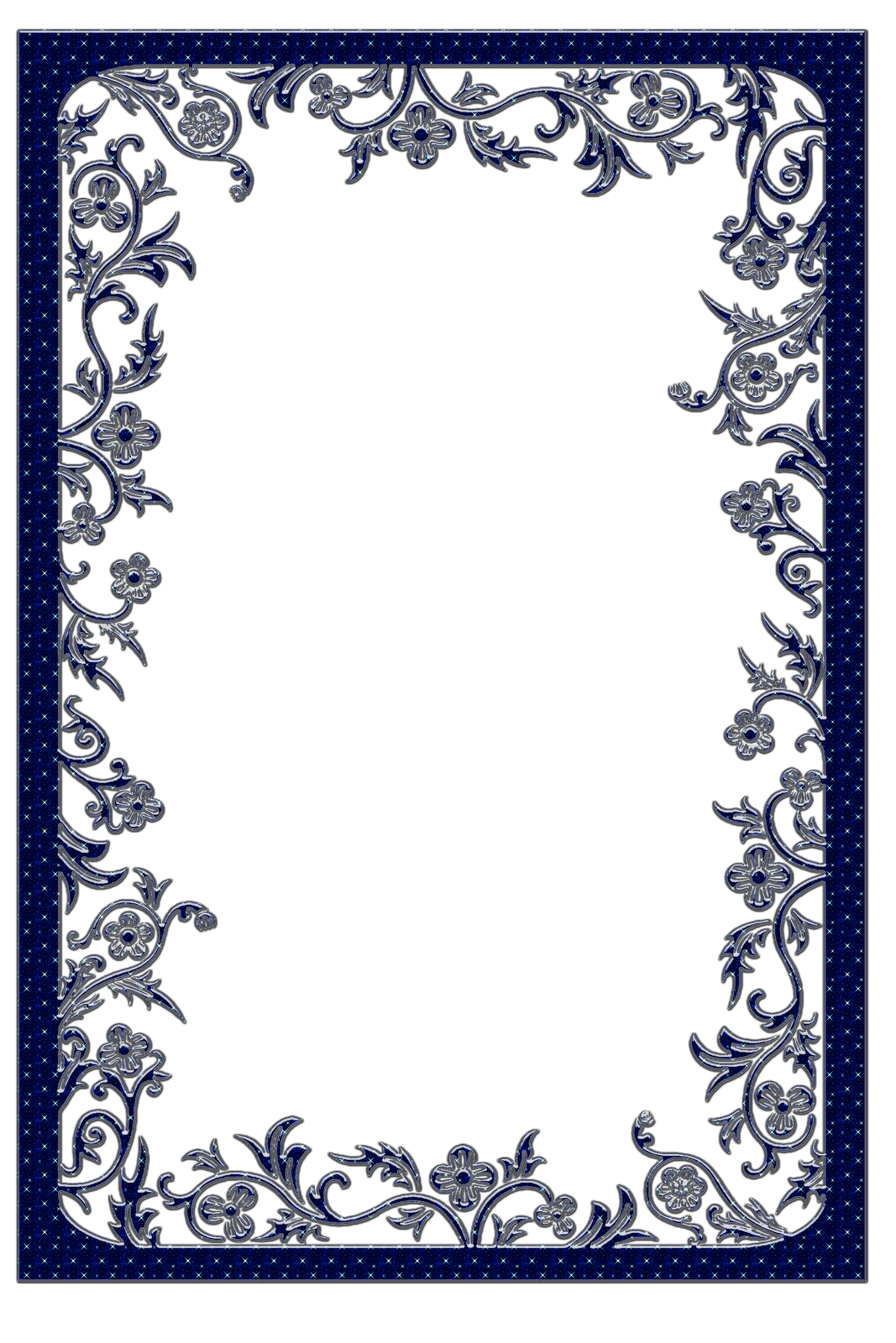 Large Dark Blue Transparent Frame.
