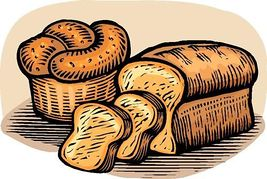 Whole wheat bread clipart.