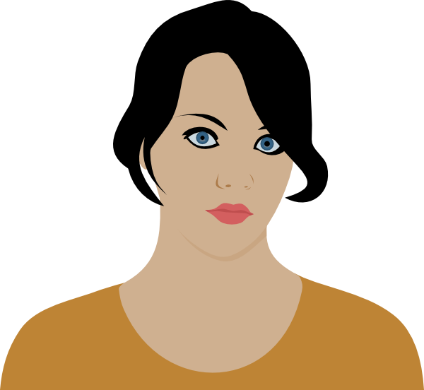 Woman With Dark Brown Hair Clip Art at Clker.com.