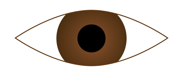 117 Brown Eyes free clipart.