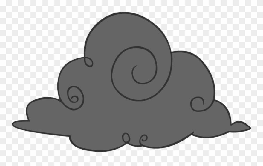 Cartoon Storm Cloud.