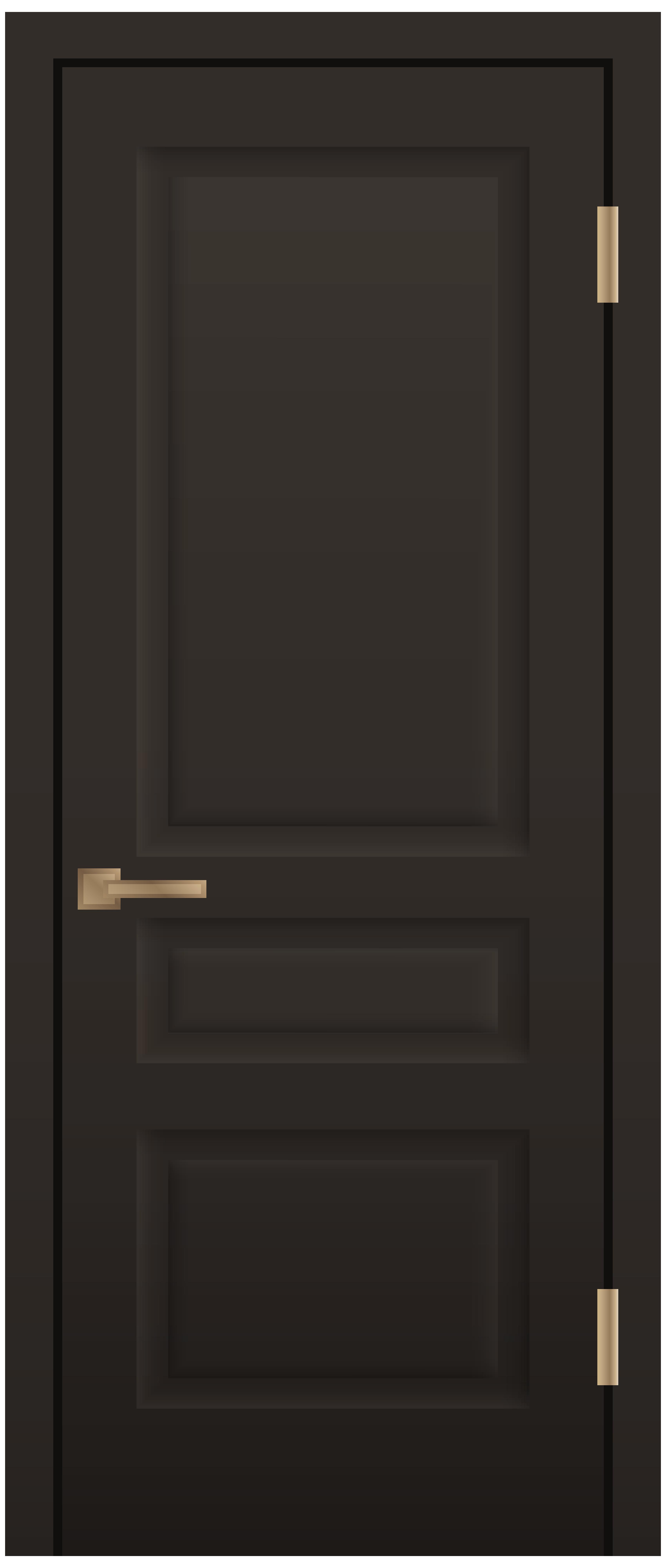 Dark Door PNG Clip Art.