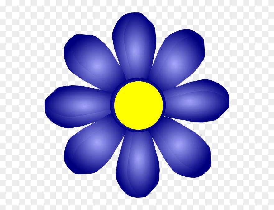 Dark Blue Clipart Dark Purple Flower.