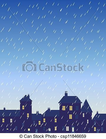 Dark rainy day clipart.