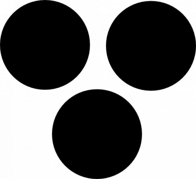 Three dark dots Icons.