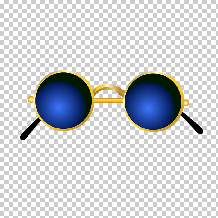 Sunglasses Blue, Dark blue glasses material PNG clipart.