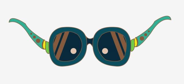 Dark Blue Sunglasses Hand Painted Sunglasses Cartoon Sunglasses.