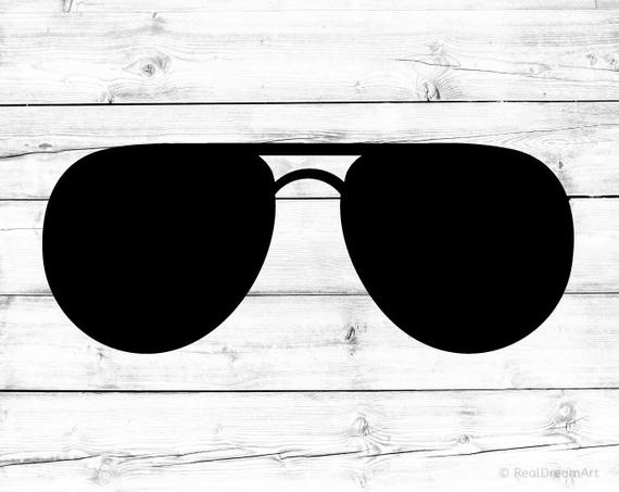Sunglasses Svg Aviators Svg Glasses Svg Shades Svg Summer Glasses Svg  Sunglasses Silhouette Svg for Cricut Svg for Silhouette Sunglasses Png.
