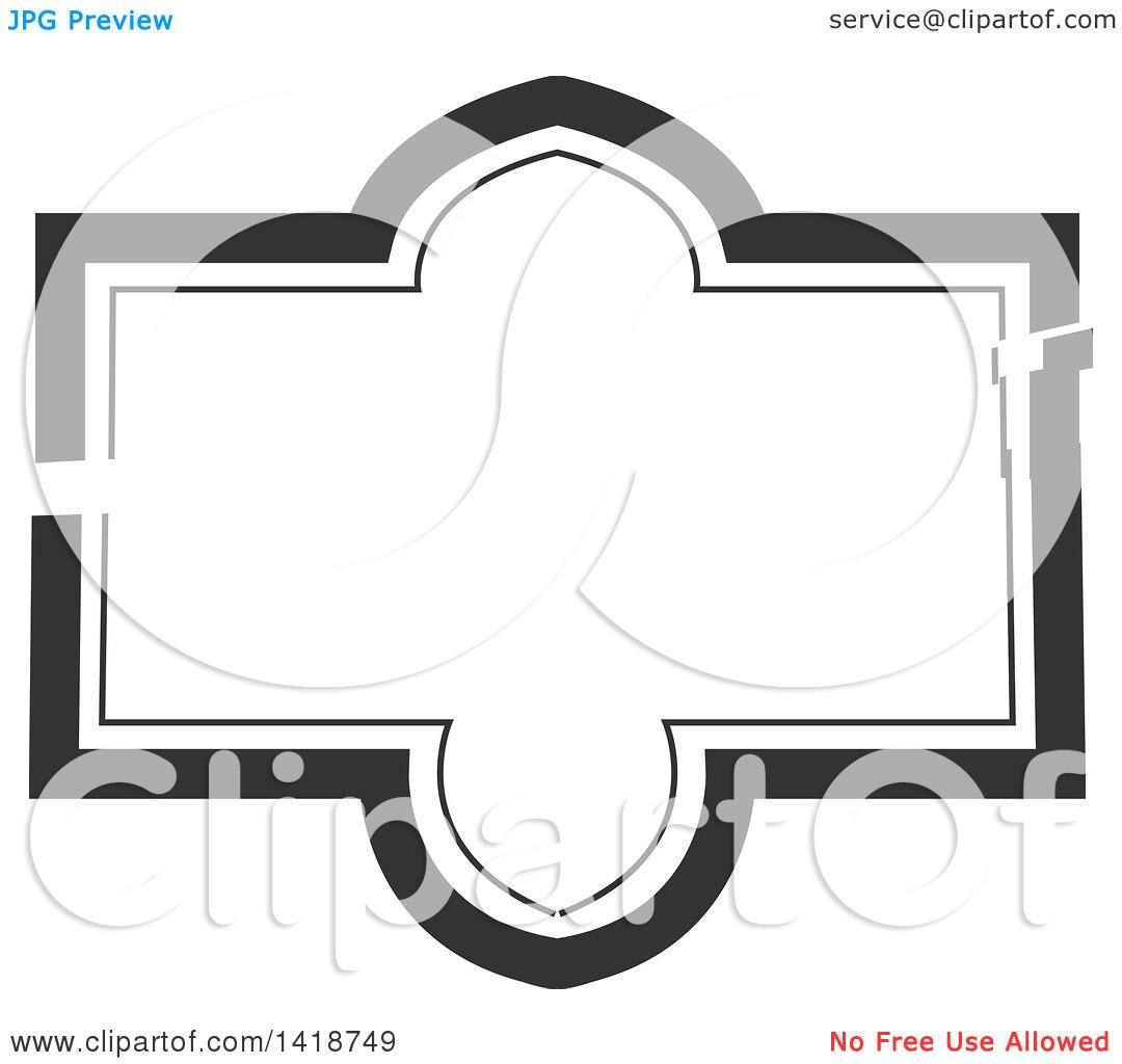 Clipart of a Dark Gray Label Frame Design.
