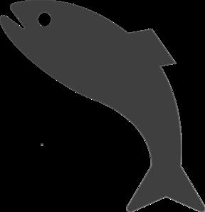 Dark Gray Jumping Fish Clip Art at Clker.com.
