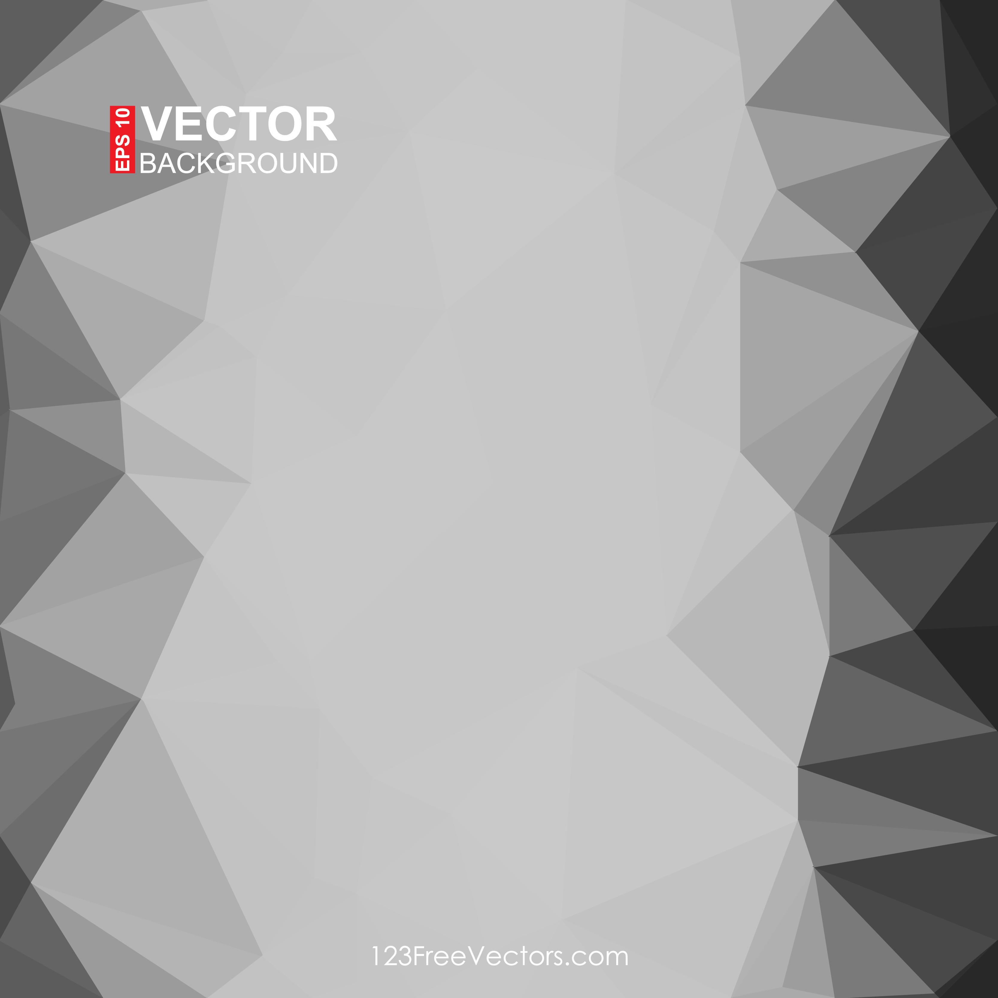 Geometric Polygon Dark Grey Background Clip Art.