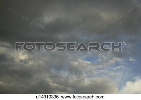 Stock Images of Dark Gray Clouds In A Blue Sky u14910336.