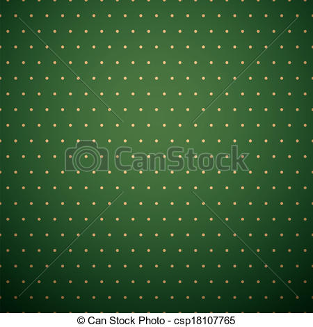 Clip Art Vector of Dark green background with yellow polka dot.