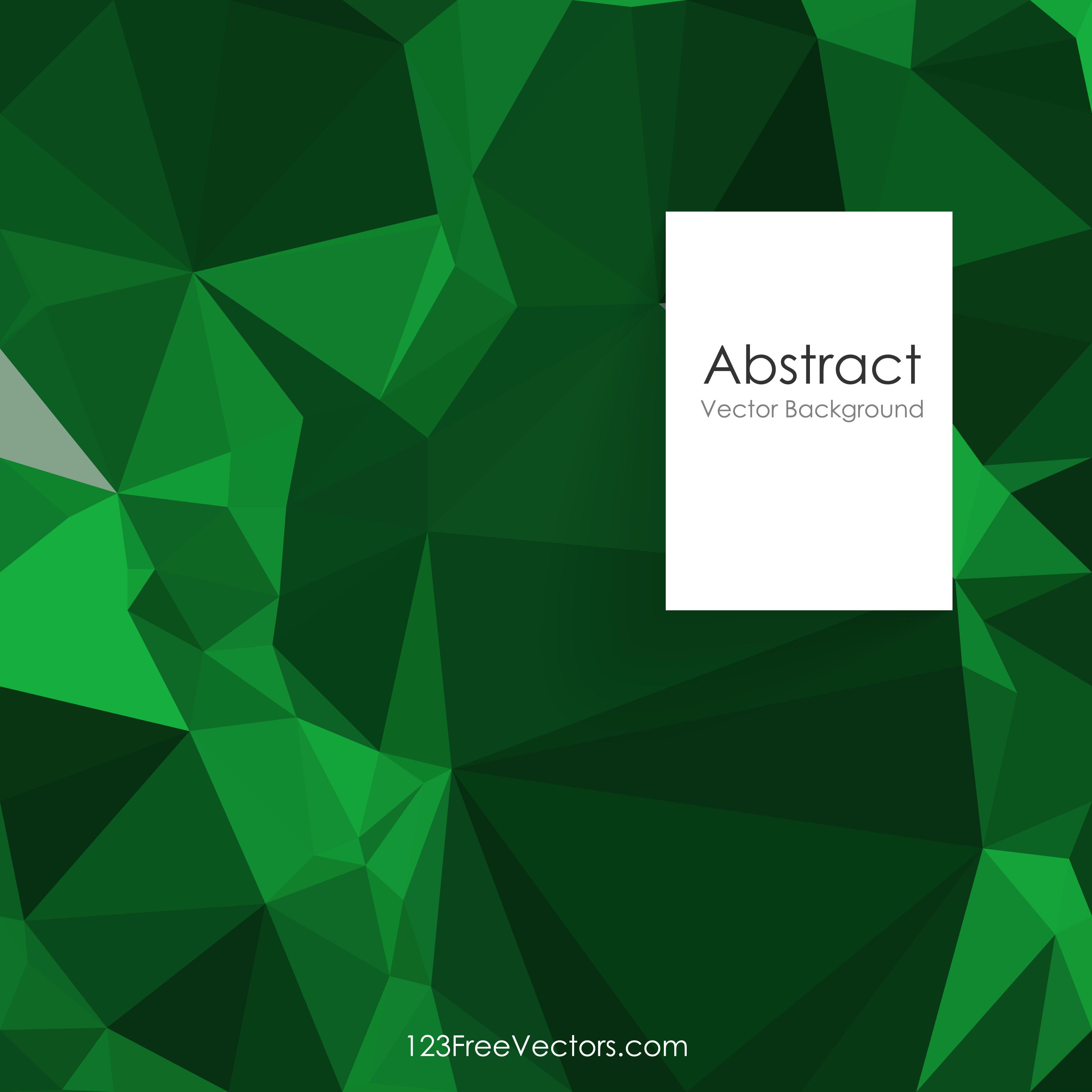 Dark Green Abstract Polygonal Background Clip Art.
