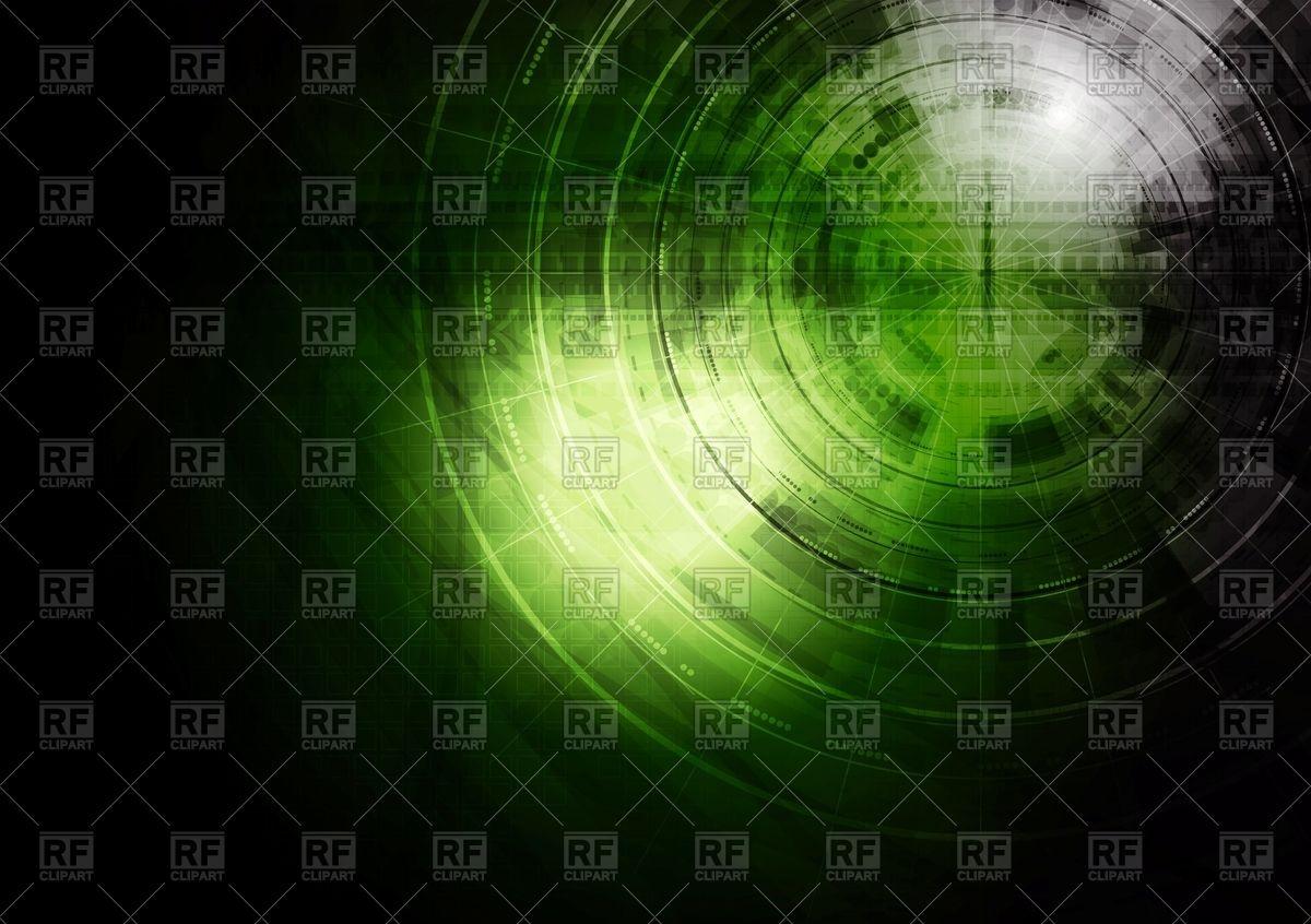 Dark green technology background Vector Image #67450.