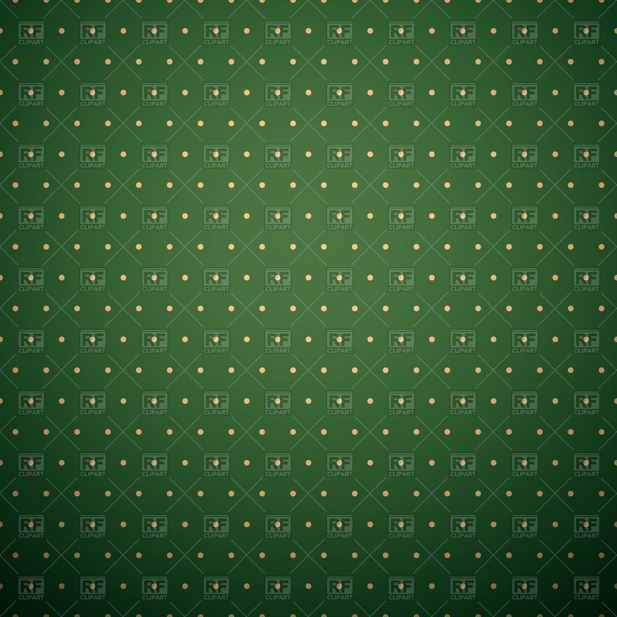 Dark green background with yellow polka dot pattern Vector Image.