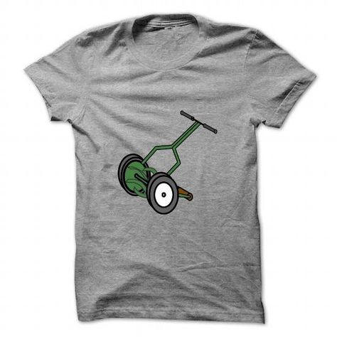 I Love Cartoon Push Reel Lawn Mower T.