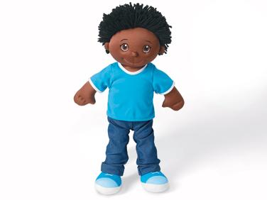 Soft & Washable Black Boy Doll at Lakeshore Learning.