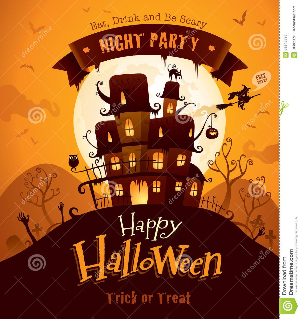 Halloween Poster Stock Vector.