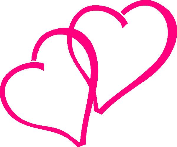 Dark Pink Heart Clipart.