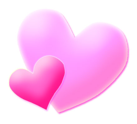 Dark pink heart clipart.