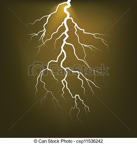 EPS Vector of Lighting flash on the dark sky.