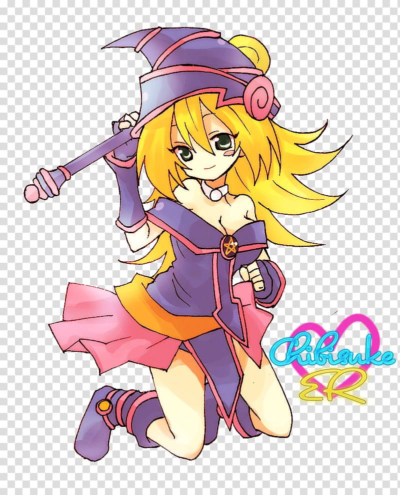 Render Maga Oscura, Dark Magician Girl transparent.