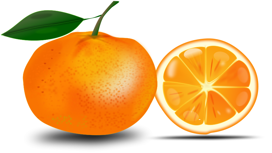 Clipart images of dark roads with an orange car at the end.