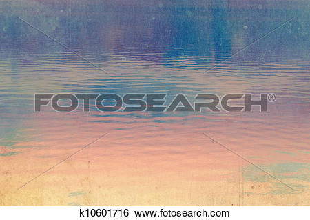 Stock Illustration of Dreamy dark, deep blue and pink sky.