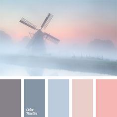 Palette that combines shades of dark blue.