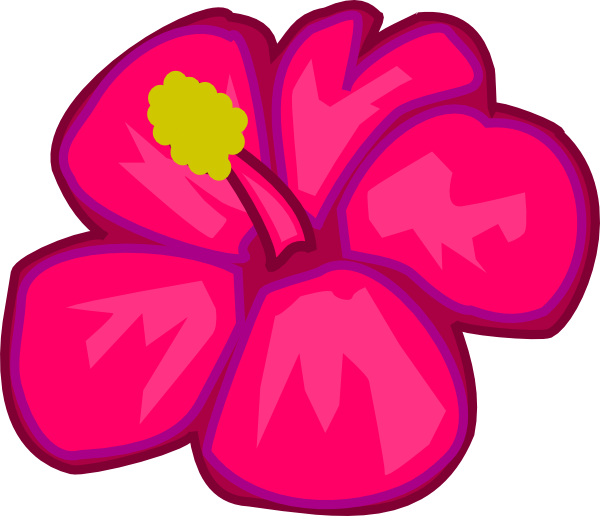 Dark pink flower clipart.