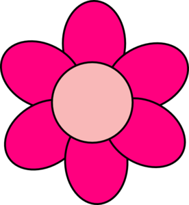 Hot Pink Flower Clipart.