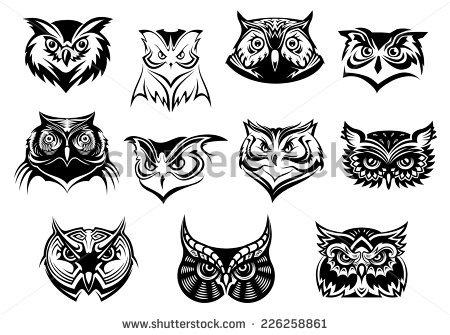 Owl Head On Stock Photos, Royalty.