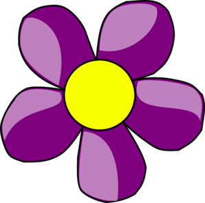 Dark purple flower clipart.