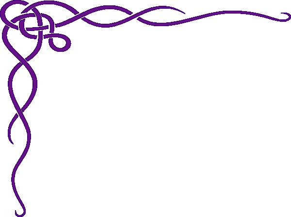Dark Purple Border Clip Art.
