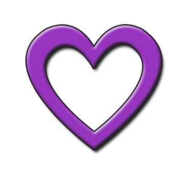 Dark purple heart clipart.