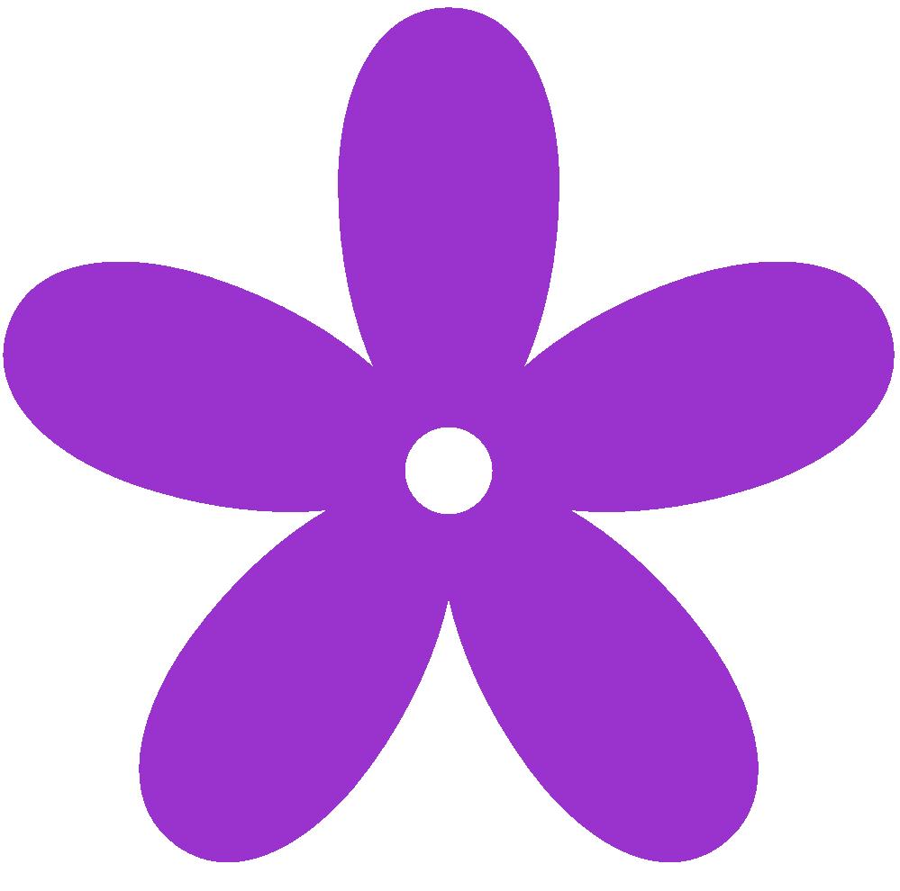 Purple colour flower clipart.