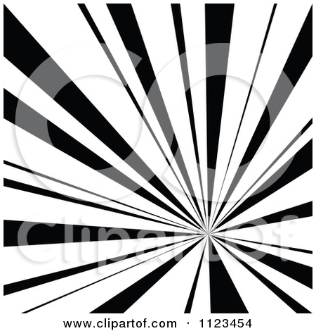 Clipart Of A Black And White Sunbeam Ray Background 2.