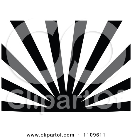 Clipart Black And White Sun And Rays Background 4.