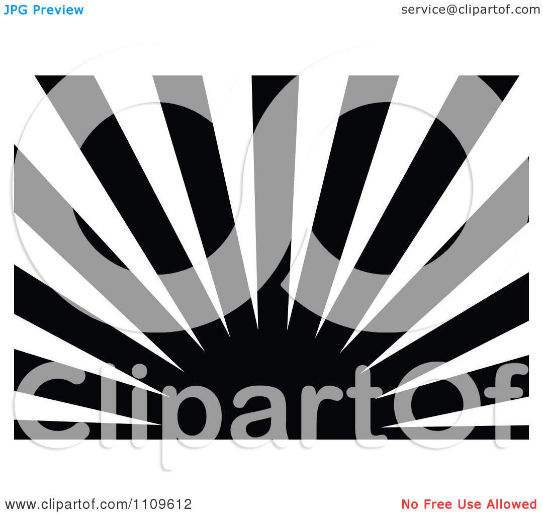 Clipart Black And White Sun And Rays Background 2.