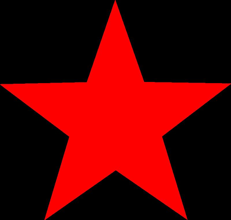 Dark red star clipart.