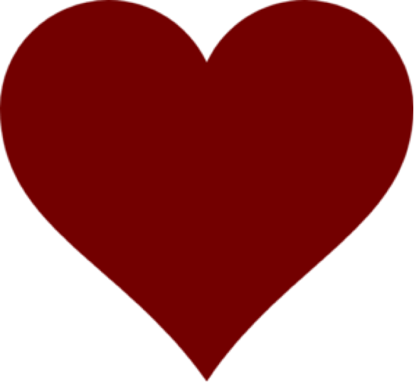 Dark Red Heart PNG Clipart.