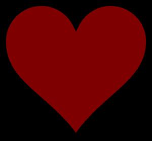Dark Red Heart Clip Art at Clker.com.