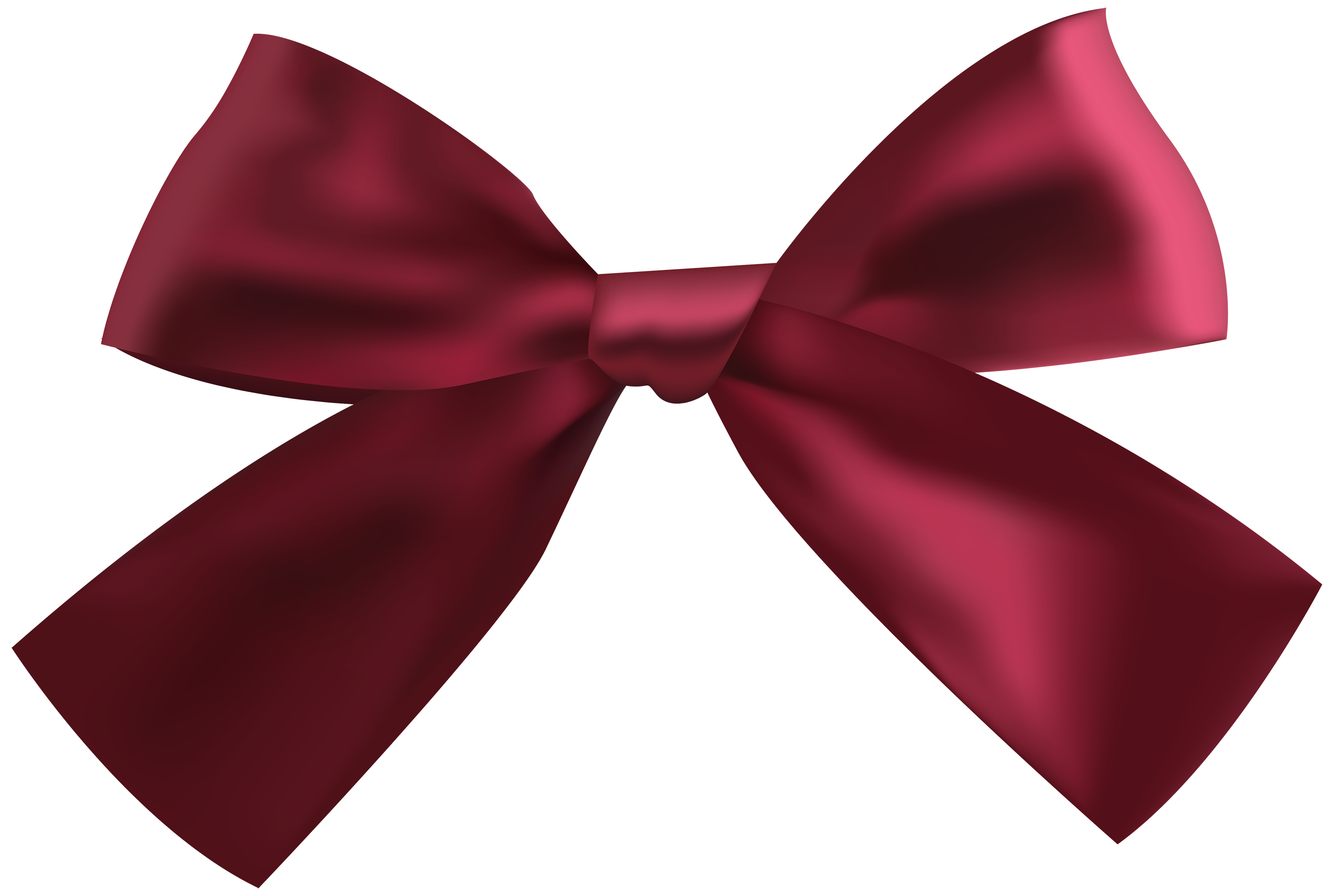 Dark Red Ribbon PNG Clipart.