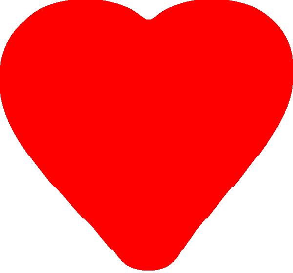 Dark Red Blurred Heart Clip Art at Clker.com.