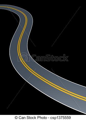 Stock Illustration of wander road.