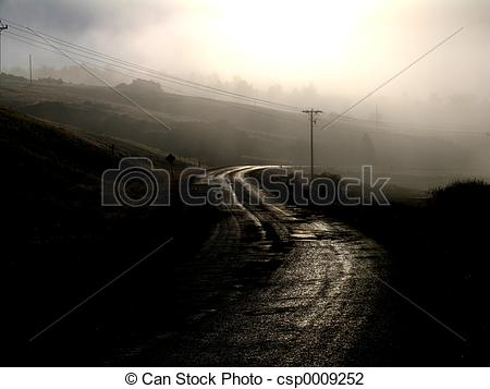 Stock Photo of Dark Road.