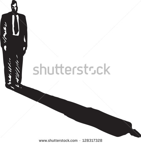 Clipart dark shadow of man.