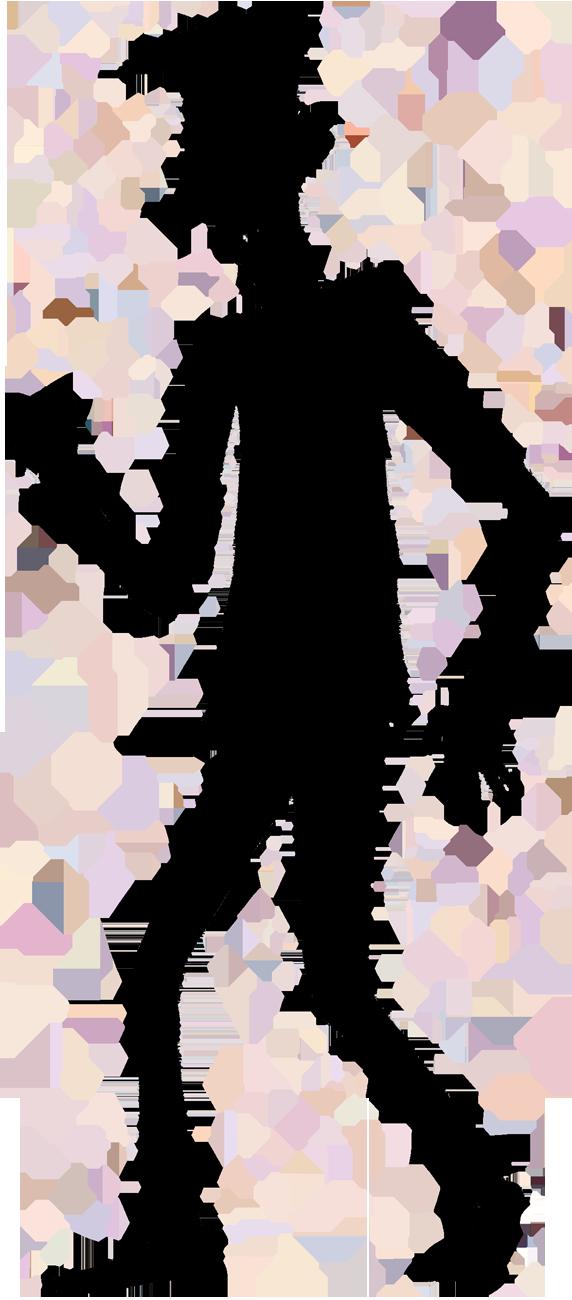 Clipart dark shadow of man.