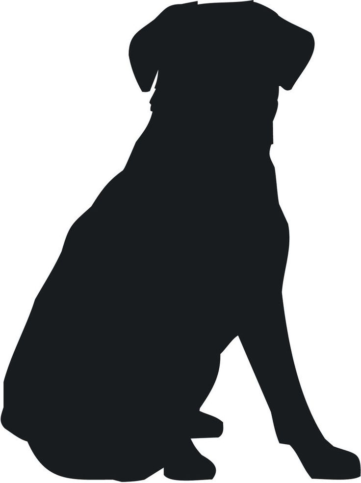 Clipart Dog Dark Red Silhouette.